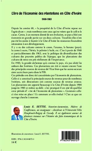 4eme L'ère de l'économie des plantations en Côte d'Ivoire