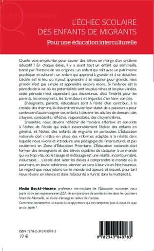 4eme L'échec scolaire des enfants de migrants