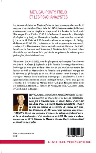 4eme Merleau-Ponty - Freud et les psychanalystes
