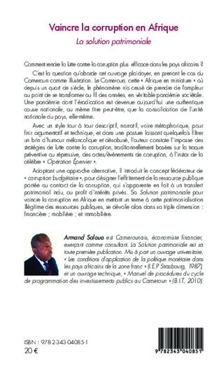 4eme Vaincre la corruption en Afrique