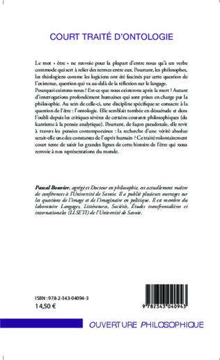 4eme Court traité d'ontologie