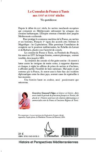 4eme Le Consulat de France à Tunis aux XVIIè et XVIIIè siècles