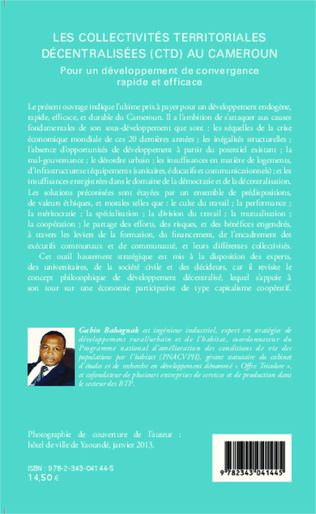 4eme Les collectivités territoriales décentralisées (CTD) au Cameroun