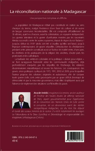 4eme La réconciliation nationale à Madagascar
