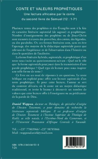 4eme Conte et valeurs prophétiques