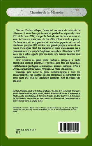 4eme Un village de la basse-Provence durancienne : Sénas (1600-1960)