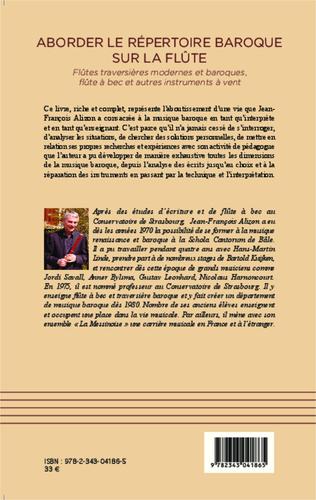 4eme Aborder le répertoire baroque sur la flûte