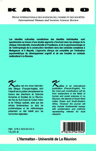 4eme Culture et identités : approches cliniques, sociologiques et anthropologiques