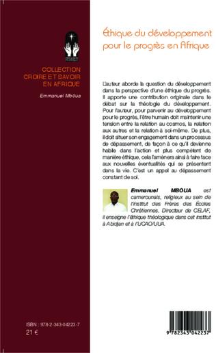 4eme Ethique du développement pour le progrès en Afrique