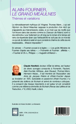 4eme Alain Fournier, Le Grand Meaulnes