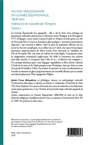 4eme Action missionnaire en Guinée équatoriale, 1858-1910 Tome 1