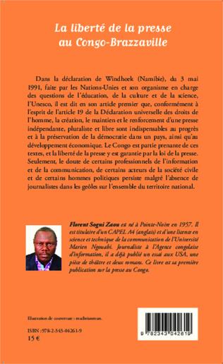4eme La liberté de la presse au Congo-Brazzaville