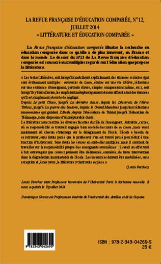4eme Littérature et éducation comparée