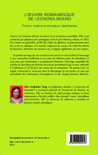 4eme L'oeuvre romanesque de Léonora Miano