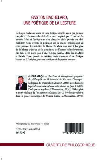 4eme Gaston Bachelard, une poétique de la lecture