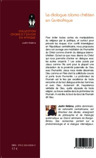 4eme Le dialogue islamo-chrétien en Centrafrique