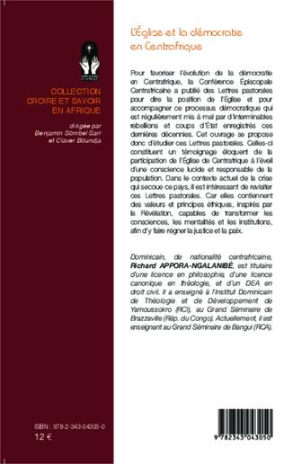 4eme L'Eglise et la démocratie en Centrafrique