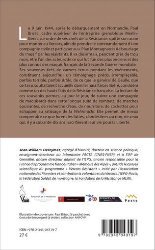 4eme Paul Brisac Souvenirs du Vercors