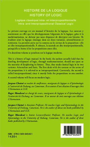 4eme Histoire de la logique / History of logic
