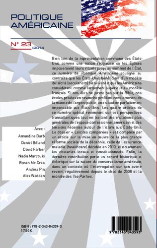 4eme Laïcités comparées entre les Etats-Unis et l'Europe