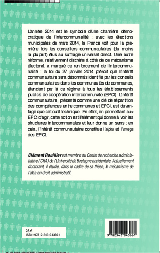 4eme L'intérêt communautaire des établissements publics de coopération intercommunale