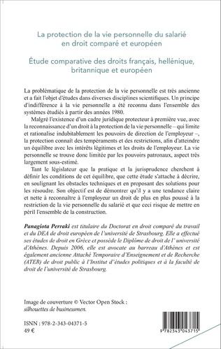 4eme La protection de la vie personnelle du salarié en droit comparé européen