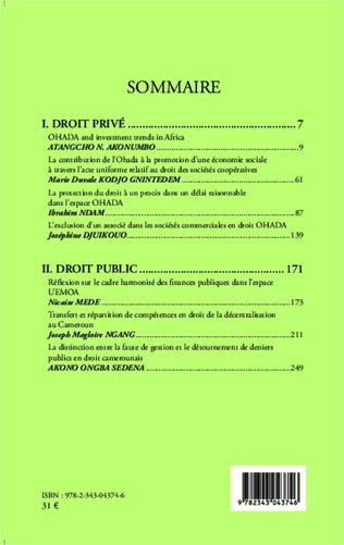4eme Revue Africaine des Sciences Juridiques n° 1/2014