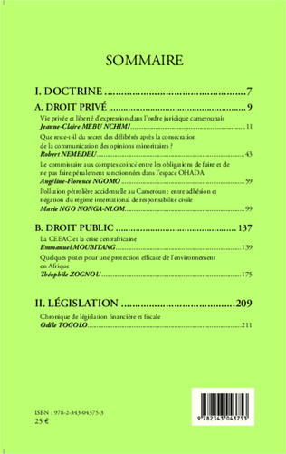 4eme Revue Africaine des Sciences Juridiques n° 2/2014