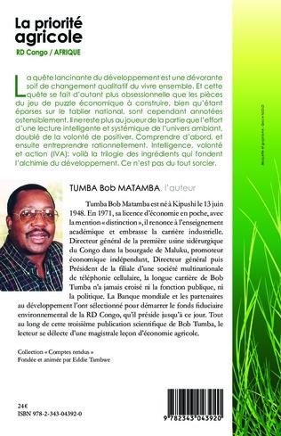 4eme La priorité agricole RD Congo / Afrique