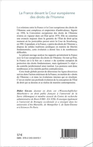 4eme La France devant la Cour européenne des droits de l'Homme