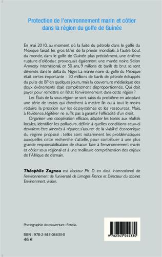 4eme Protection de l'environnement marin et côtier dans la région du golfe de Guinée