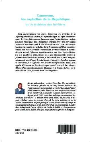 4eme Cameroun, les orphelins de la  République