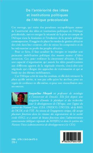 4eme De l'antériorité des idées et institutions politiques de l'Afrique précoloniale