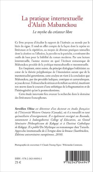 4eme La pratique intertextuelle d'Alain Mabanckou