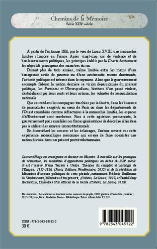 4eme La Royauté à l'épreuve du passé de la Révolution (1816-1820)