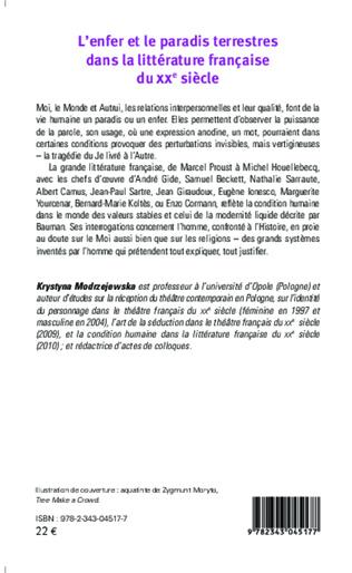4eme L'enfer et le paradis terrestres dans la littérature française du XXe siècle