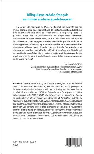 4eme Bilinguisme créole-français en milieu scolaire guadeloupéen