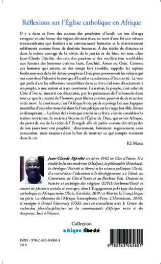 4eme Réflexions sur l'Eglise catholique en Afrique