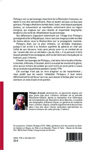 4eme Pichegru, général en chef de la République : imposture et trahison