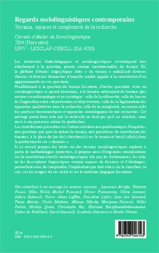 4eme Regards sociolinguistiques contemporains