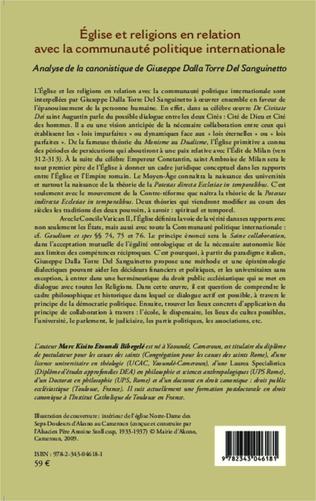 4eme Eglise et religions en relation avec la communauté politique internationale