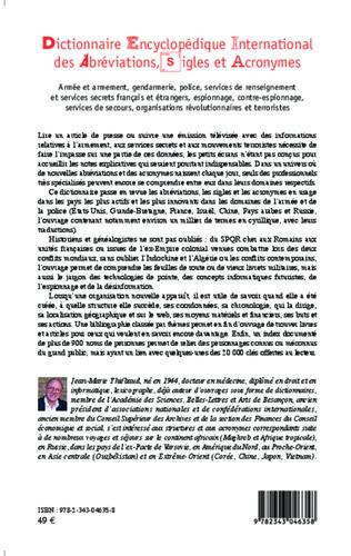 4eme Dictionnaire encyclopédique international des abréviations, sigles et acronymes
