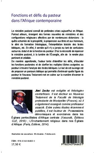 4eme Fonctions et défis du pasteur dans l'Afrique contemporaine