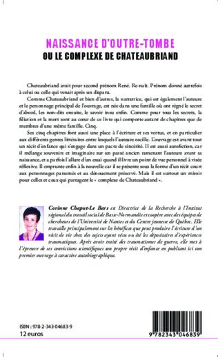 4eme Naissance d'outre-tombe ou le complexe de Chateaubriand