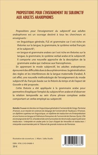 4eme Propositions pour l'enseignement du subjonctif aux adultes arabophones