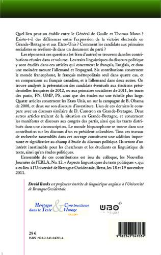 4eme Aspects linguistiques du texte politique