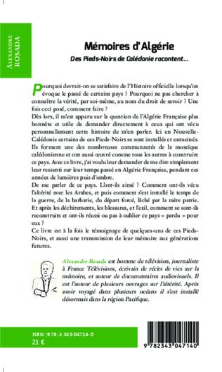 4eme Mémoires d'Algérie
