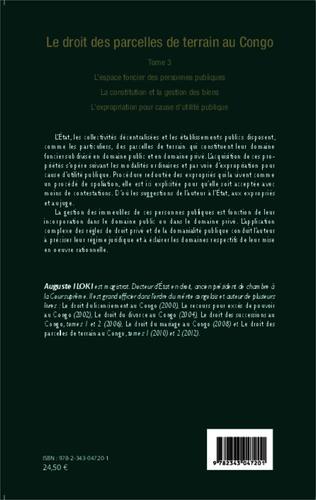 4eme Le droit des parcelles de terrain au Congo (Tome 3)