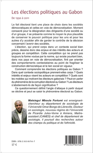 4eme Les élections politiques au Gabon de 1990 à 2011