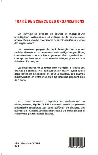 4eme Traité de science des organisations